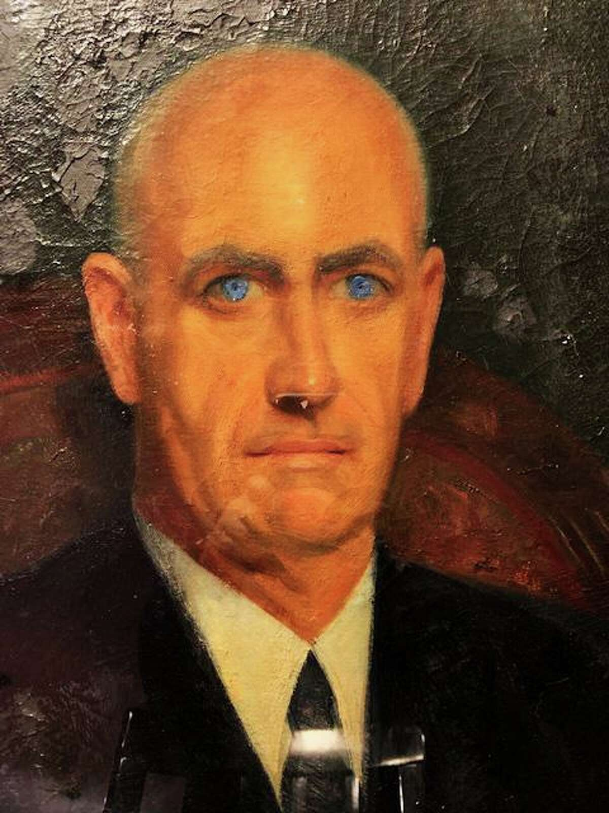 East Hampton artist Alice Bevin painted this portrait of historian Carl Price. Their life and works will be the subject of the 1st Cabin Fever History Series organized by the Chatham Historical Society and sponsored by the East Hampton Library Dec. 21.