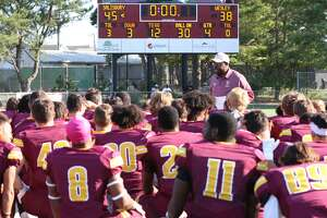 Salisbury coach Sherman Wood talks to his team this season. Salisbury played for the school and lost an NCAA playoff game to Union in 1983. Union and Salisbury meet on Saturday in a second-round playoff game in Maryland. (Courtesy of Salisbury University)