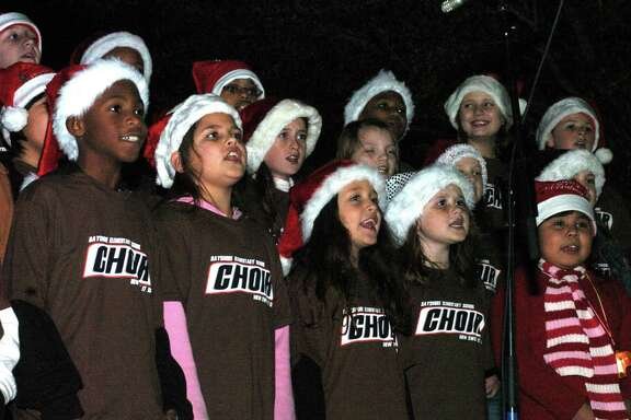 Christmas on Main Street is a longtime La Porte tradition. Here, the Bayshore Elementary School Choir performs in 2007. This year's event is set for Dec. 5 and will include musical performances from students in La Porte Independent School District. The event also will include vendors selling Christmas goodies and gifts, the lighting of the Christmas tree and, of course, pictures with Santa Claus.