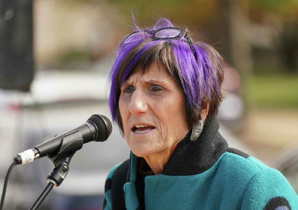 Congresswoman Rosa DeLauro of Connecticut speaks at a press conference organized to deliver 1.5 million petitions to the USDA to Save School Lunches on November 14, 2019 in Washington, DC.