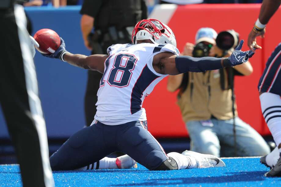 PHOTOS: Texans vs. Colts ORCHARD PARK, NY - SEPTEMBER 29: Matthew Slater #18 of the New England Patriots celebrates a touchdown after a blocked punt during the first half against the Buffalo Bills at New Era Field on September 29, 2019 in Orchard Park, New York. (Photo by Timothy T Ludwig/Getty Images) >>>See more photos from the Texans' Thursday night game against the Colts ... Photo: Timothy T Ludwig/Getty Images