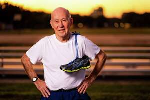 Even at 89, Ruger Winchester, Air Force Veteran and Buckner Parkway Place resident, loves to stay active. He is training to run the We Are Houston 5K in January.