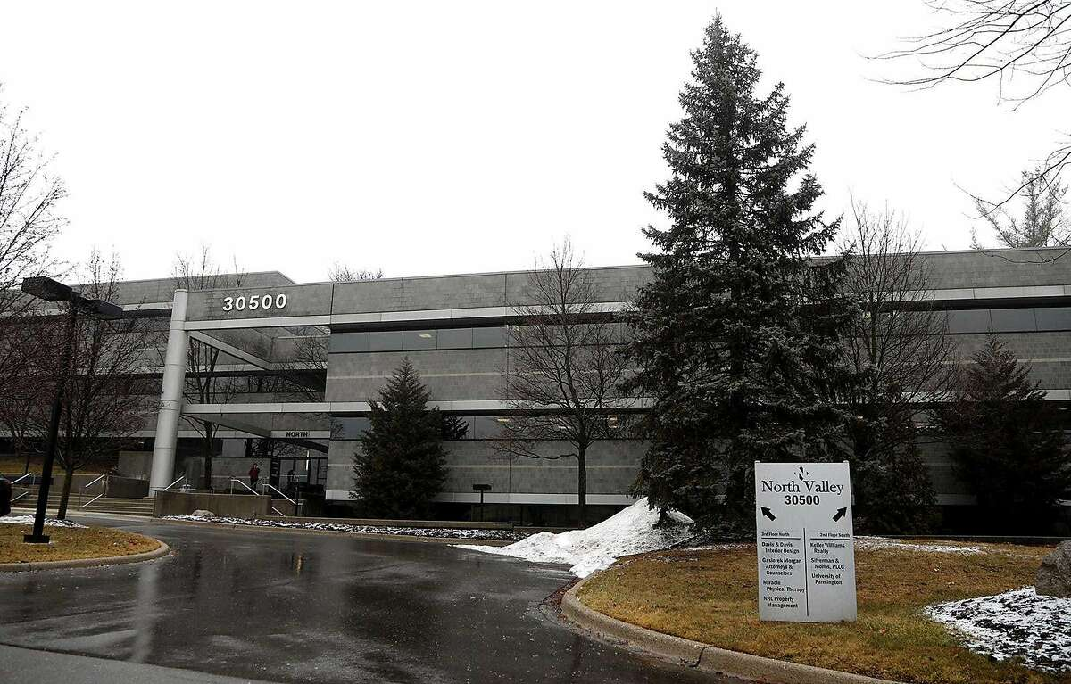 This is the building at 30500 Northwestern Hwy. in Farmington Hills south of 13 Mile Rd. that was used as the fake University of Farmington campus created by the Department of Homeland Security as part of a sting operation targeting foreign students, seen on Thursday, February 7, 2019, in Farmington Hills, Michigan. As of Nov. 2019, about 250 students, mostly from India, have been arrested and face deportation. Defense attorneys say the students were unfairly targeted, thinking they were enrolling in a legitimate university approved by the Dept. of Homeland Security on its website. (Eric Seals/Detroit Free Press/TNS)