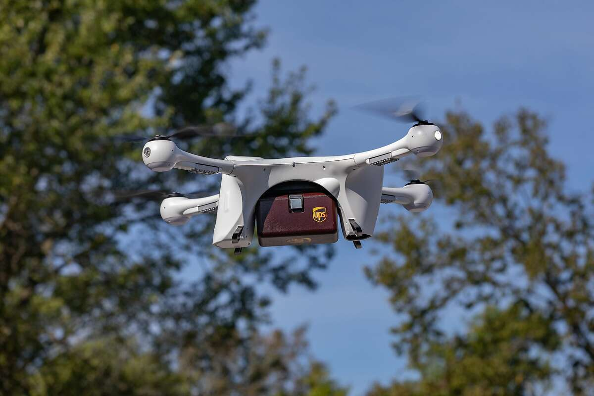 UPS has made its first commercial drone deliveries, dropping off CVS prescriptions to consumers' homes. Drones delivering packages could help reduce greenhouse gas emissions - depending on how and where they're deployed. (UPS)