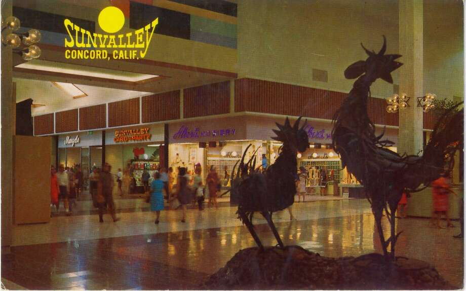 A vintage postcard shows the SunValley Shopping Center in Concord. SunValley Mall opened in 1967, Photo: Archive