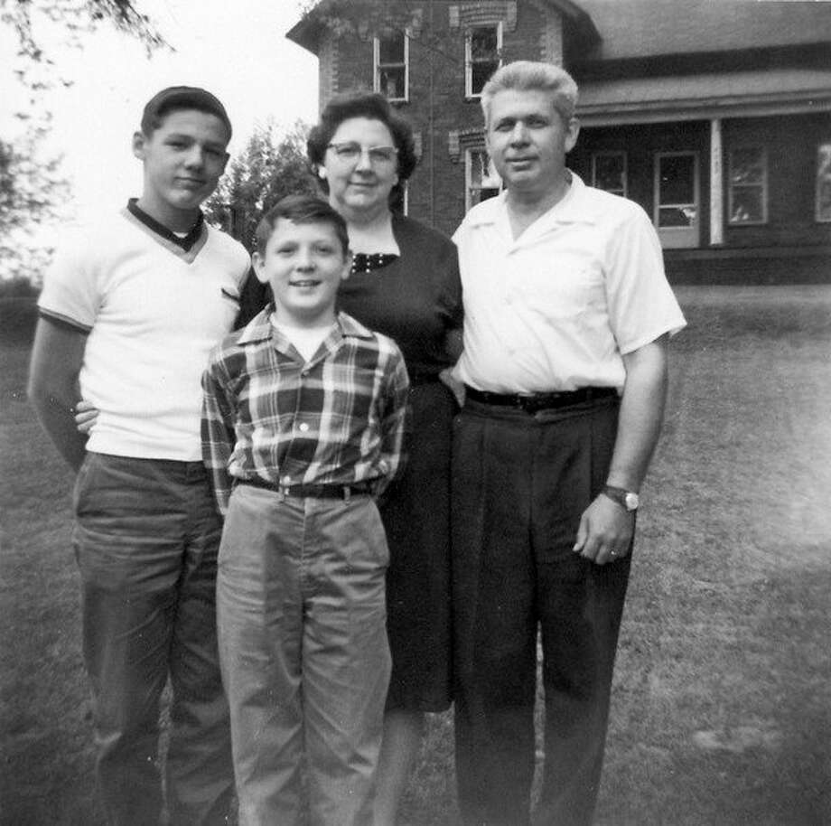 This is the Donovan Herman Miller family with his wife, Shirley, and his two sons, John Alan and Donovan Eugene (always called Eugene). Donovan Herman Miller left a 66-page diary of his life detailing his service in World War II.