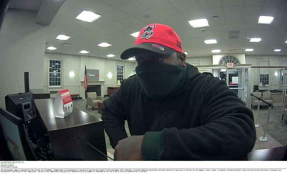 A $1,000 reward is available for information leading to the arrest of this suspect in the Nov. 25, 2019 robbery of Key Bank in West Haven. Anyone with information should call West Haven Police at 203-937-3900. Photo: / West Haven Police Department