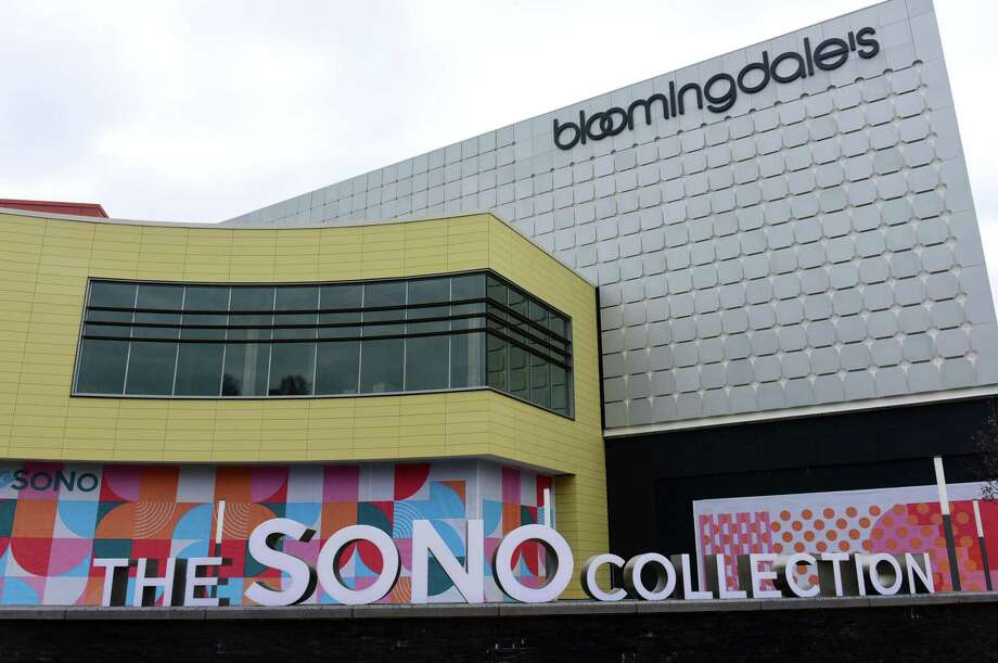 One person was detained following a fight that damaged Bloomingdale's Monday night at The SoNo Collection. Photo: Erik Trautmann / Hearst Connecticut Media / Norwalk Hour