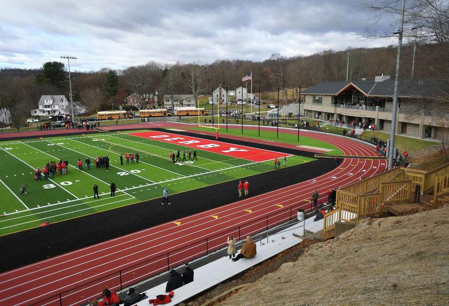 The Leo F. Ryan Athletic Complex in Derby, Conn. on Thursday, November 28, 2019. Derby is allowing Ansonia to use the field for its state playoff game Tuesday night. Photo: Brian A. Pounds / Hearst Connecticut Media / Connecticut Post