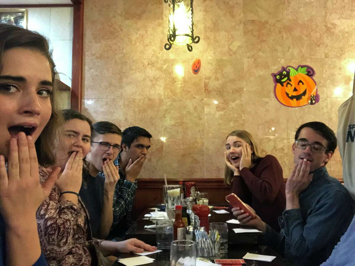 The Zoomers Caucus, a group of politically active Gen Zers, meets at a diner in October to play a card game and form the caucus.