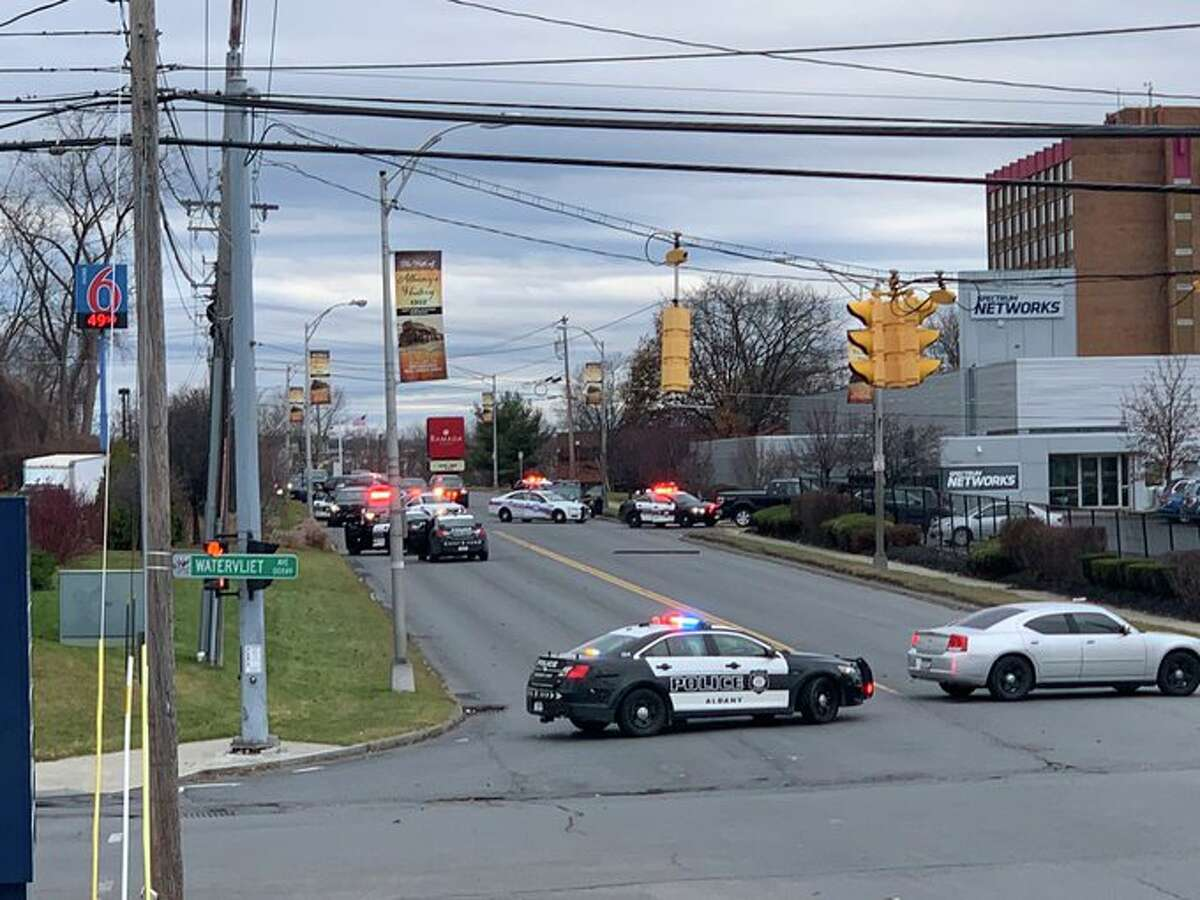 Streets around Watervliet Avenue Extension are closed as police investigate reports of a possible armed person in the area.