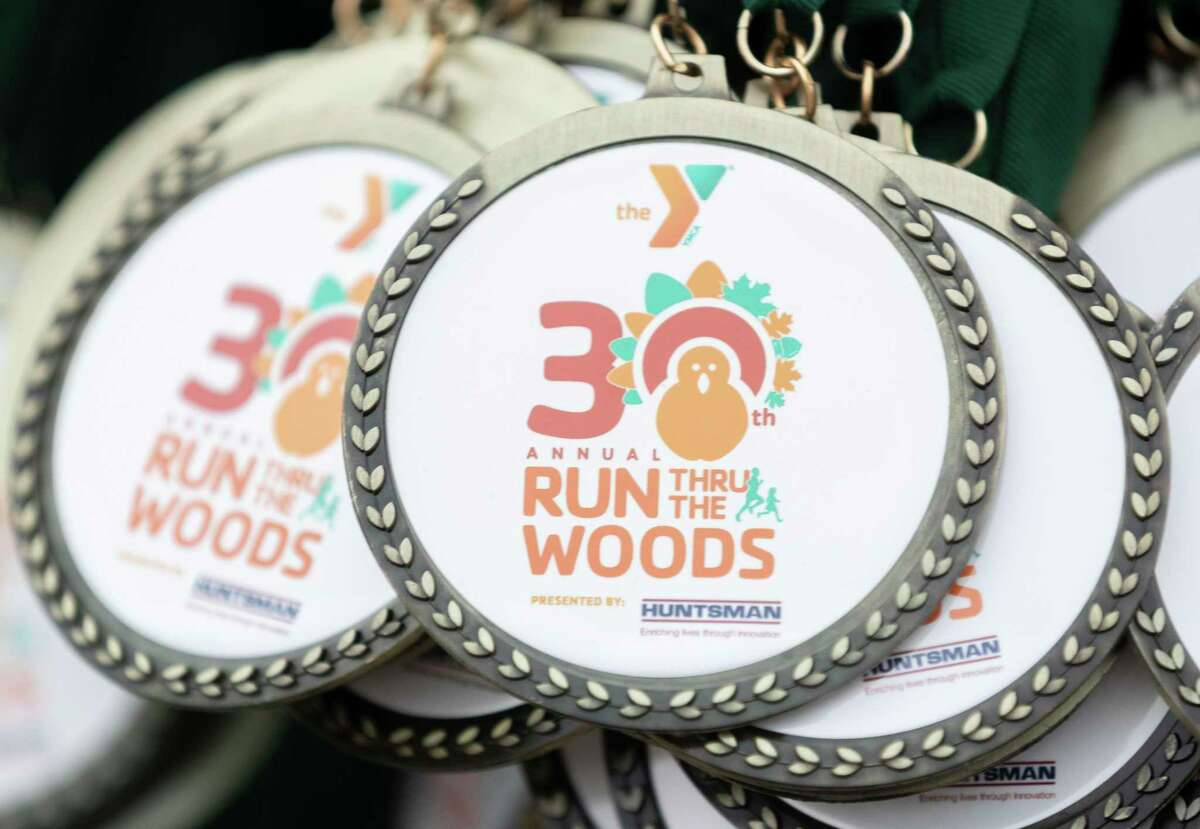 More than 5,200 runners took part in the annual Run Thru the Woods, Thursday, Nov. 28, 2019, in The Woodlands.