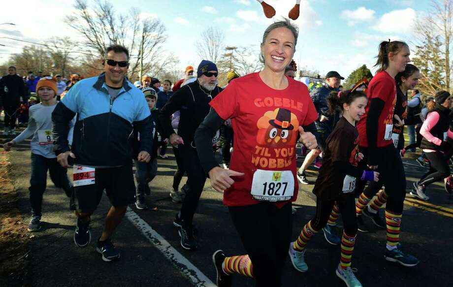 Over a thousand runners turn out for the 2019 Rowayton Turkey Trot road race Thursday, November 28, 2019, at the Rowayton Community Center in Norwalk, Conn. Photo: Erik Trautmann / Hearst Connecticut Media / Norwalk Hour