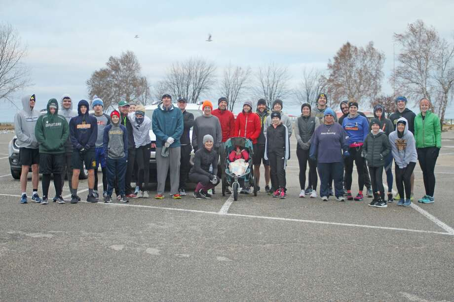 Nearly 30 participants came out for Manistee's annual Turkey Trot 5K on Thursday morning. Photo: Dylan Savela/News Advocate