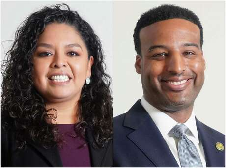 Sandra Rodriguez, left, and Edward Pollard, right, are candidates for the District J seat on Houston City Council.