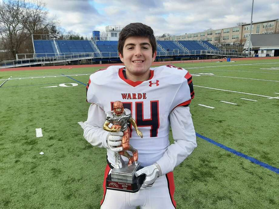 Warde's Ryan Janz was named MVP in Mustangs win over Ludlowe Thursday. Photo: Doug Bonjour / Hearst Connecticut Media