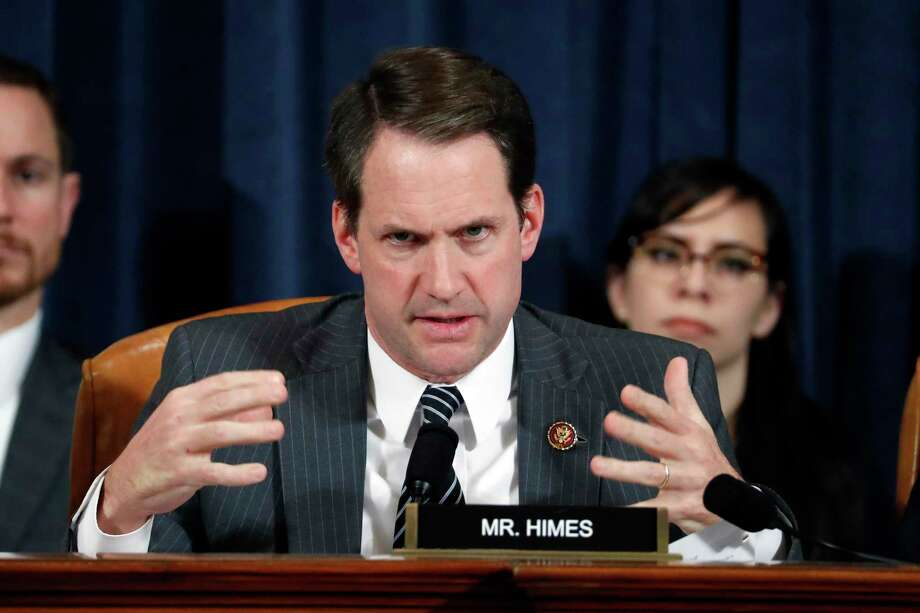 U.S. Rep. Jim Himes, D-Conn., questions Ambassador Kurt Volker, former special envoy to Ukraine, and Tim Morrison, a former official at the National Security Council, as they testify before the House Intelligence Committee on Capitol Hill Nov. 19, 2019 in Washington, D.C. Photo: Getty Images / 2019 Getty Images