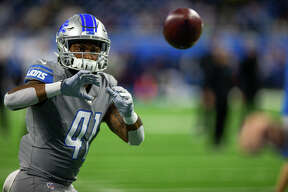 ©Quad N Productions for the Huron Daily Tribune. Chicago Bears at Detroit Lions 11-28-19 The Chicago Bears beat the Detroit Lions, 24-20, in the annual Thanksgiving game at Ford Field on Thursday, Nov. 28, 2019.