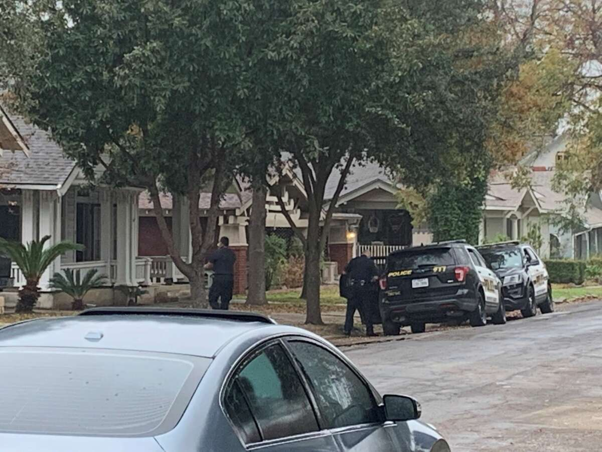 SAPD is attempting to negotiate with a suspect who has bariccaded himself inside his estranged wife's house.