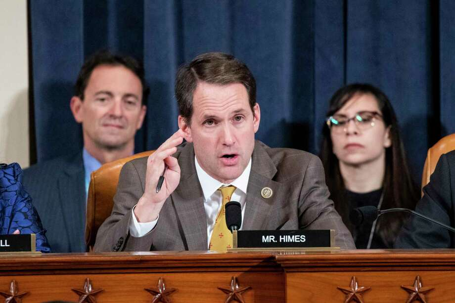 Rep, Jim Himes, D-Conn., questions Gordon Sondland, US Ambassador to the European Union, during a House Intelligence Committee impeachment inquiry hearing on Capitol Hill in Washington, Wednesday, Nov. 20, 2019. Photo: Samuel Corum / Associated Press / Pool New York Times