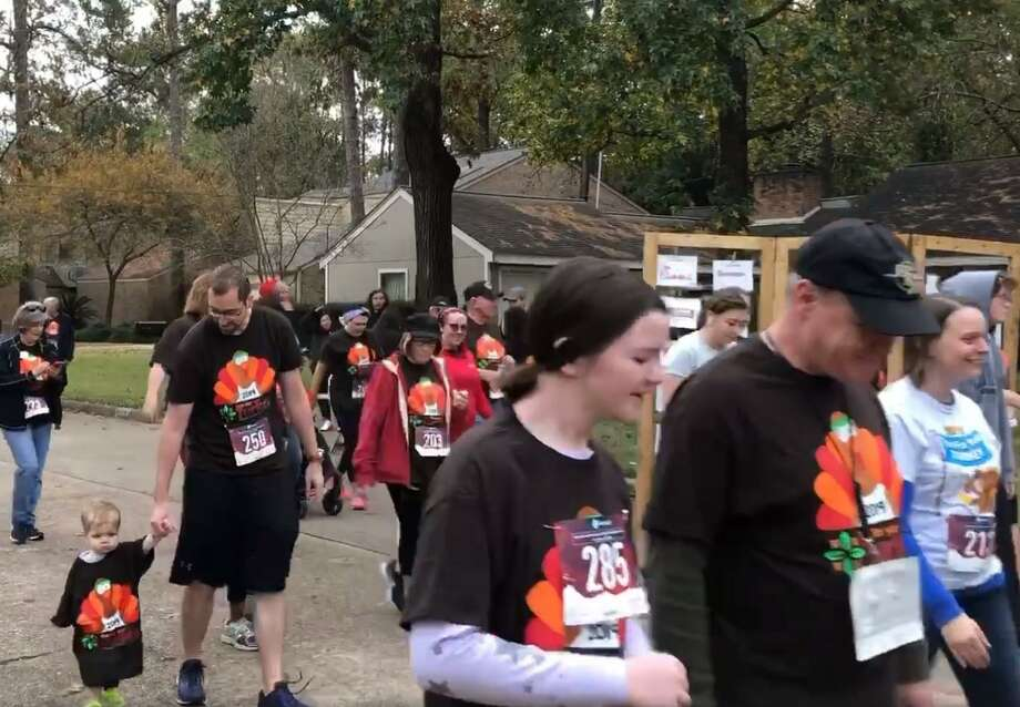 People participate in the 8th annual Run for Your Turkey 5K/10K event hosted by Kinsmen Lutheran Church on Thursday, Nov. 28, 2019. Photo: Courtesy Of Kinsmen Lutheran Church Facebook Page