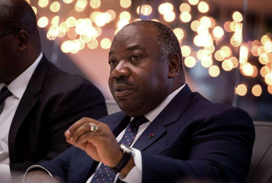 Ali Bongo Ondimba, Gabon's president, during an interview in New York on April 20, 2016. Photo: Bloomberg Photo By Michael Nagle. / © 2016 Bloomberg Finance LP
