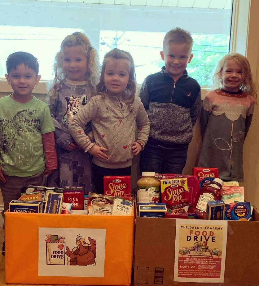 "During the month of November, Children's Academy held a food drive to support the Ridgefield Food Pantry. ""The amount of food received was beyond our expectations and we are overwhelmed by all the generous donations from our families,"" said school director Peggy Define. ""Their support means so much to us and to our local community."""