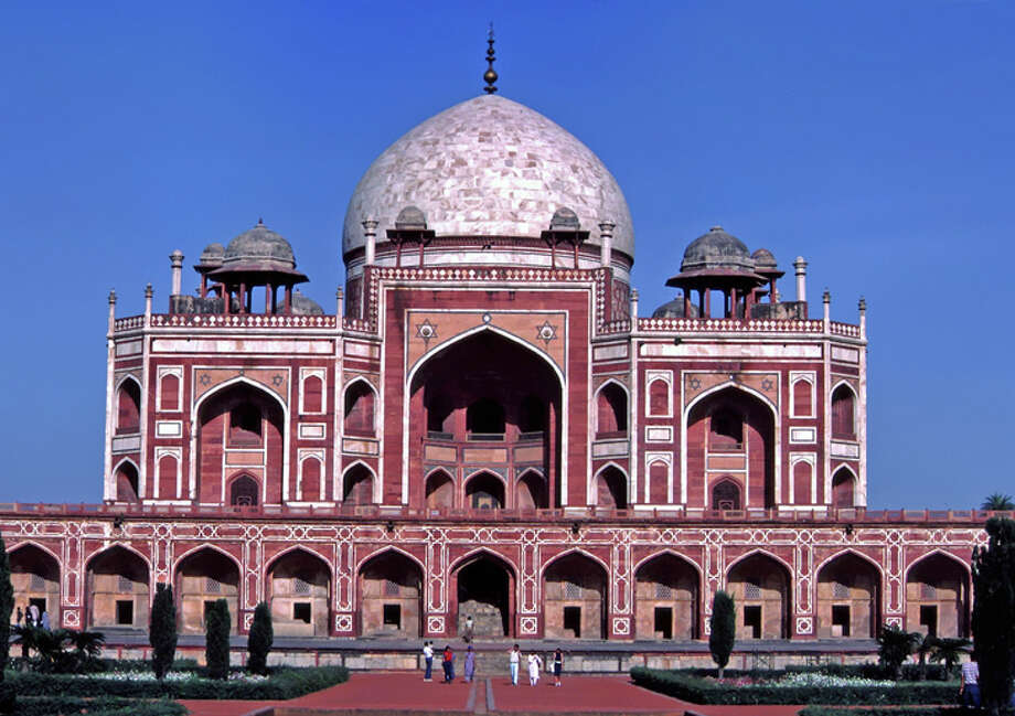 Travelers on United's non-stop SFO-New Delhi service, which starts next week, can visit historic landmarks like Humayun's Tomb. Photo: Jim Glab