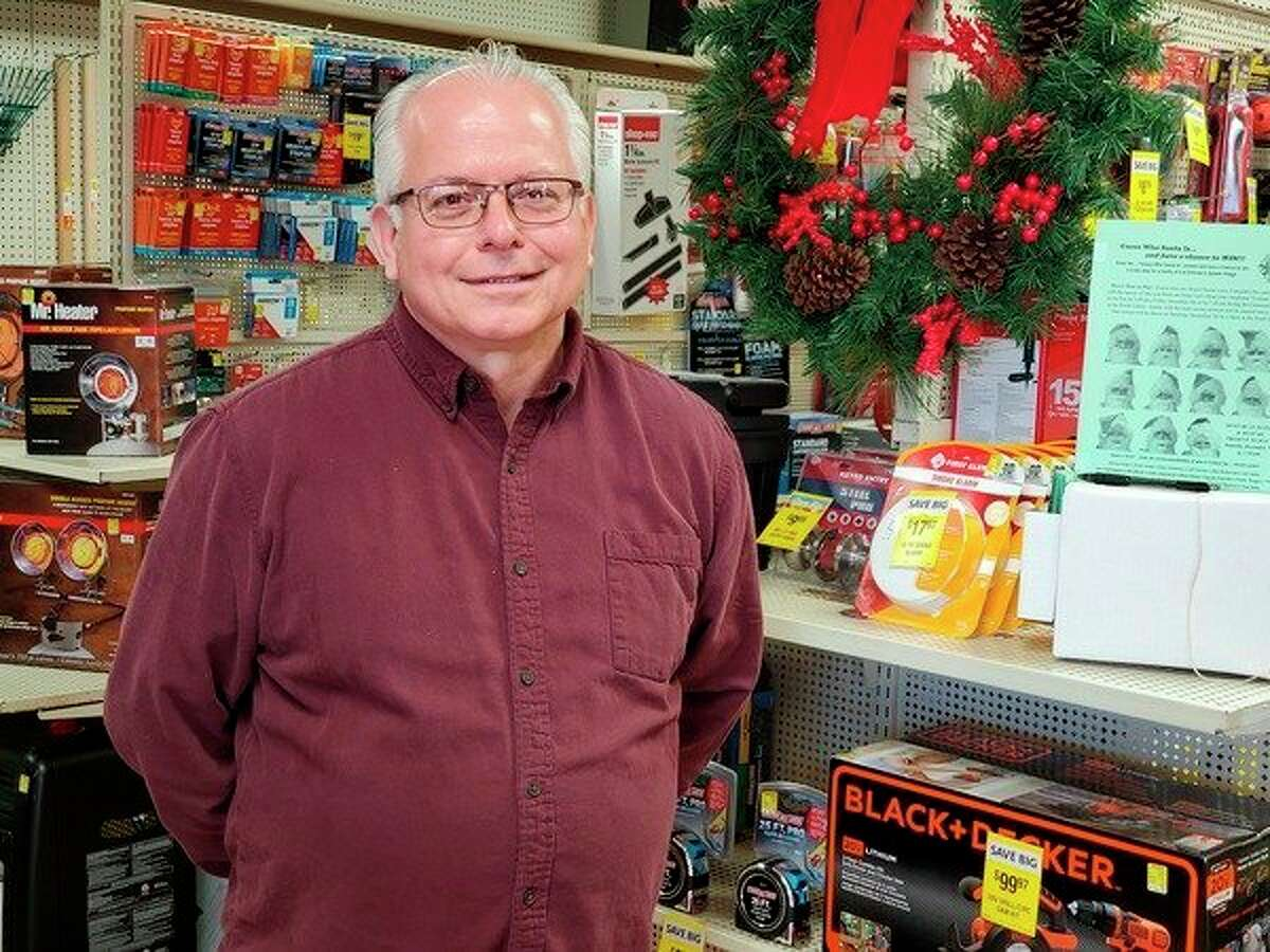 For nearly 40 years Dennis Ropp has worked in the hardware he calls home. (Scott Nunn/Huron Daily Tribune)