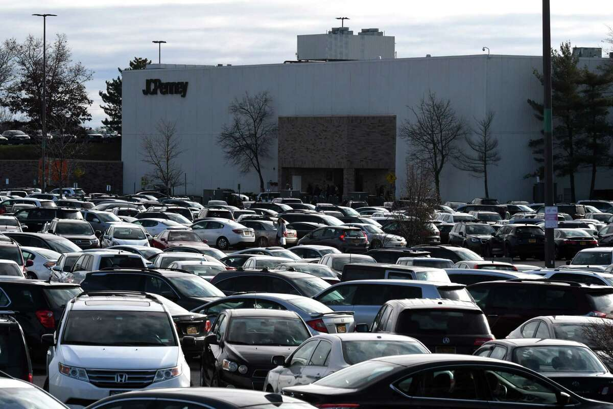 Shoppers brave crowded parking lots on Black Friday on Friday, Nov. 29, 2019, at Crossgates Mall in Guilderland, N.Y. (Will Waldron/Times Union)