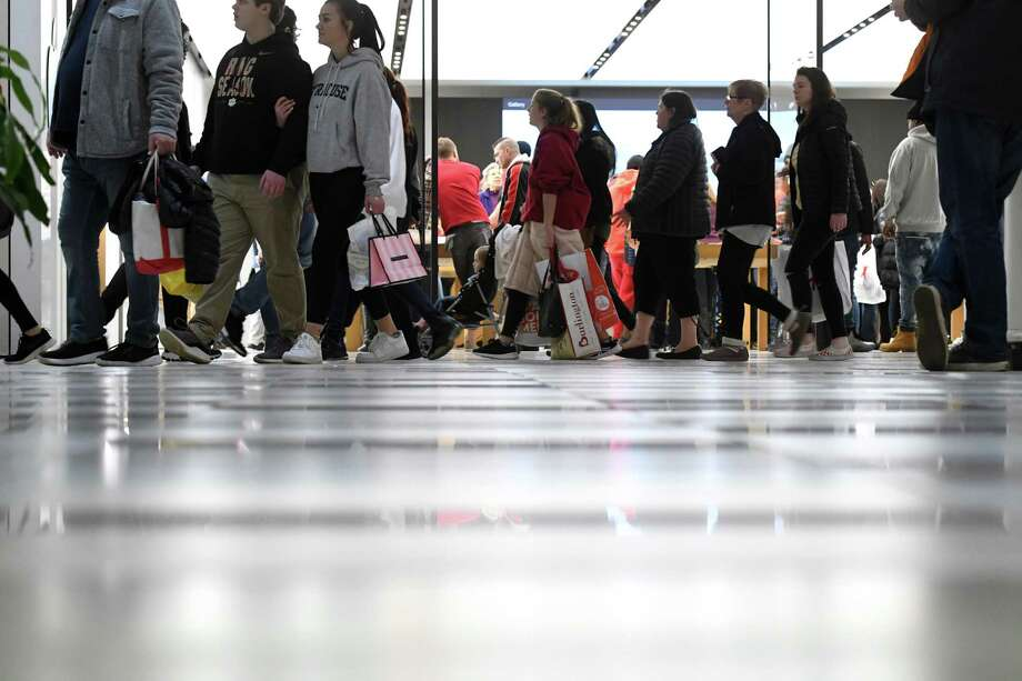 Black Friday shoppers filled the floors at Crossgates Mall on Friday, Nov. 29, 2019, at in Guilderland, N.Y. (Will Waldron/Times Union) Photo: Will Waldron, Albany Times Union / 40048368A
