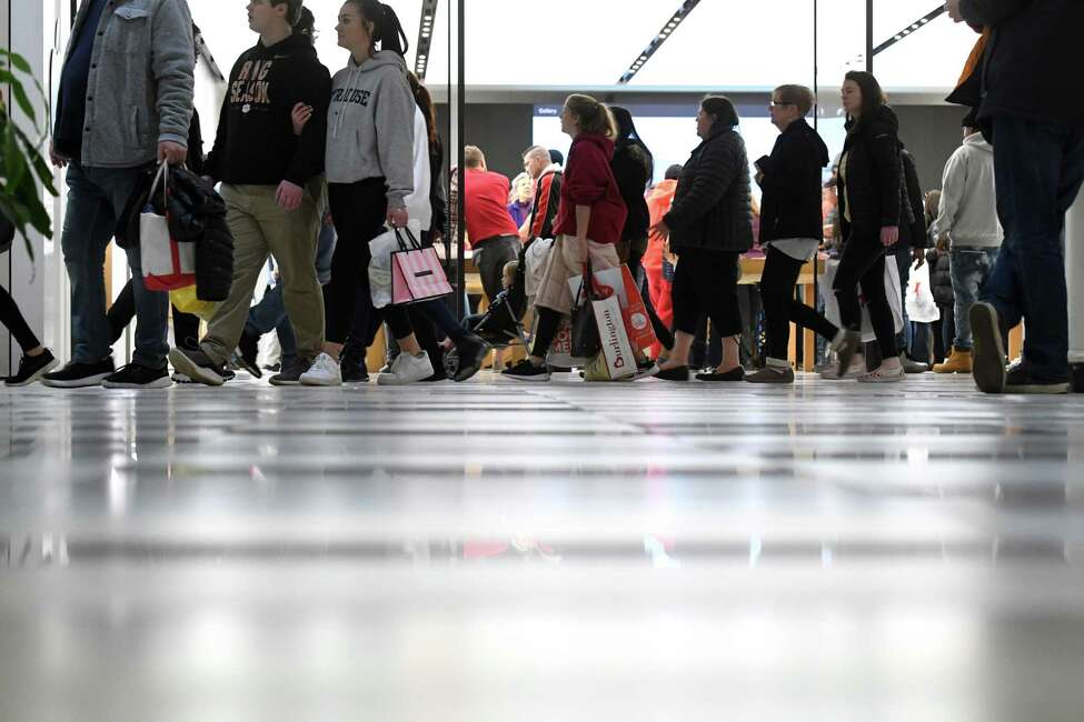 Black Friday shoppers filled the floors at Crossgates Mall on Friday, Nov. 29, 2019, at in Guilderland, N.Y. (Will Waldron/Times Union)