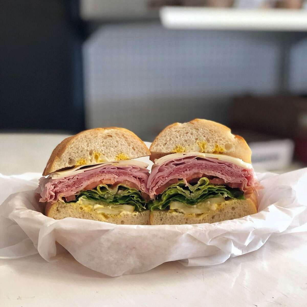 ALAMEDA Santoro's Italian Market & Deli: If you've been searching for the perfect Italian deli sandwich, piled high with meat, make your way to Alameda. The pictured sandwich has mortadella, prosciutto, salami, and provolone cheese. 475 Santa Clara Ave., Alameda