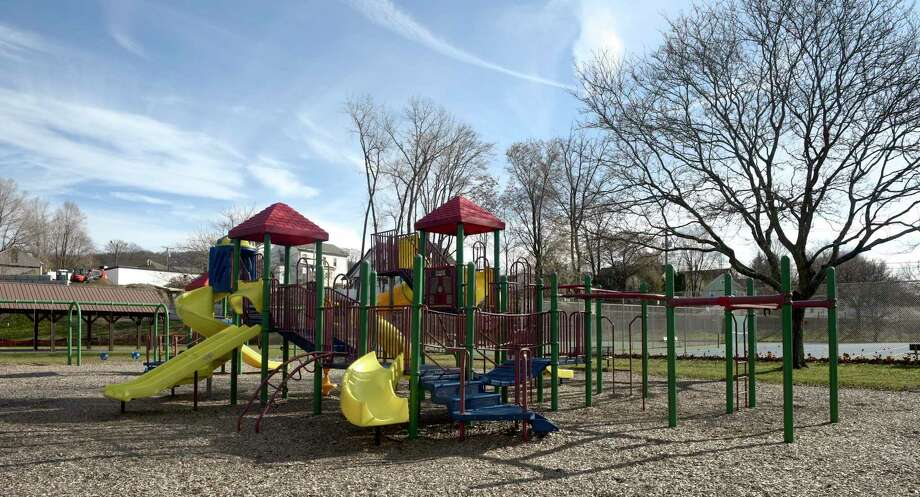 File photo of the old playground at Young's Field in New Milford. Friday, November 29, 2019, in New Milford, Conn. Photo: H John Voorhees III / Hearst Connecticut Media / The News-Times