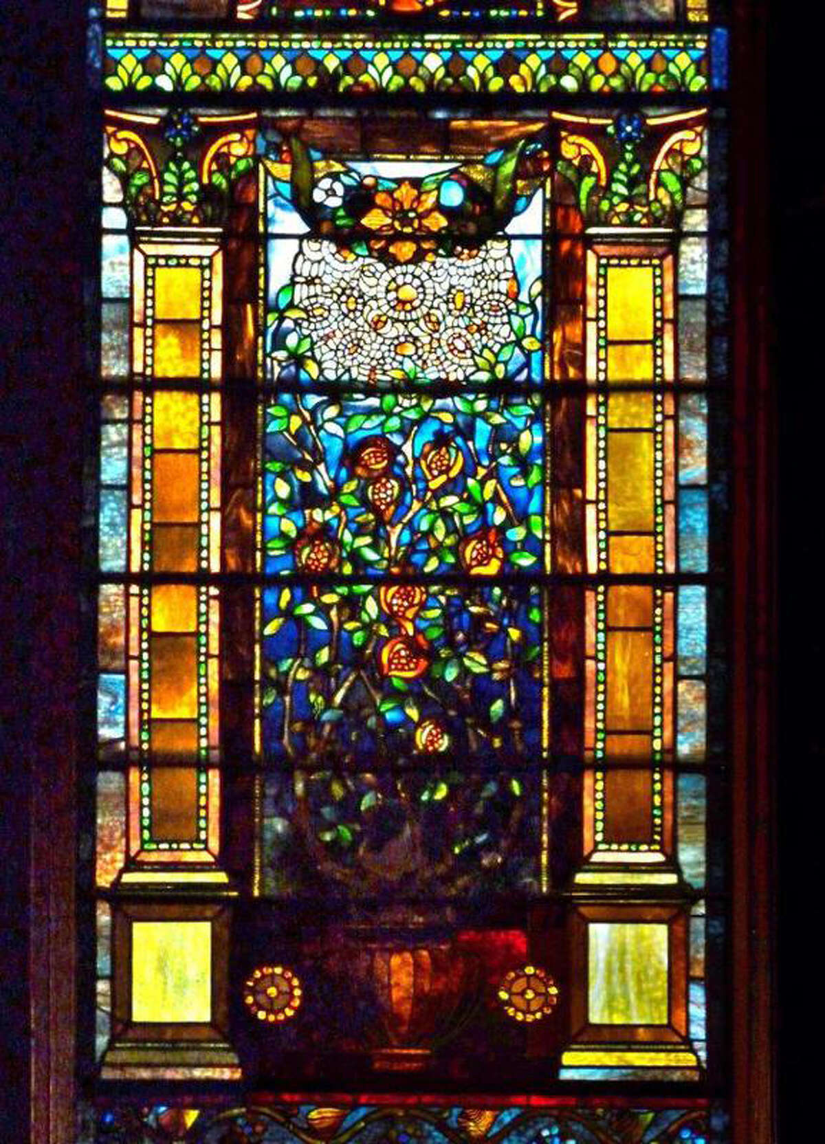 Photo by Ned Pratt The Gardner Earl Chapel at Oakwood Cemetery in Troy features eight original windows by Louis Comfort Tiffany, designed in the late 1800s for the Chapel. The Chapel was commissioned by the Earl family, prosperous paper collar manufacturers, as a tribute to their son who died very young.