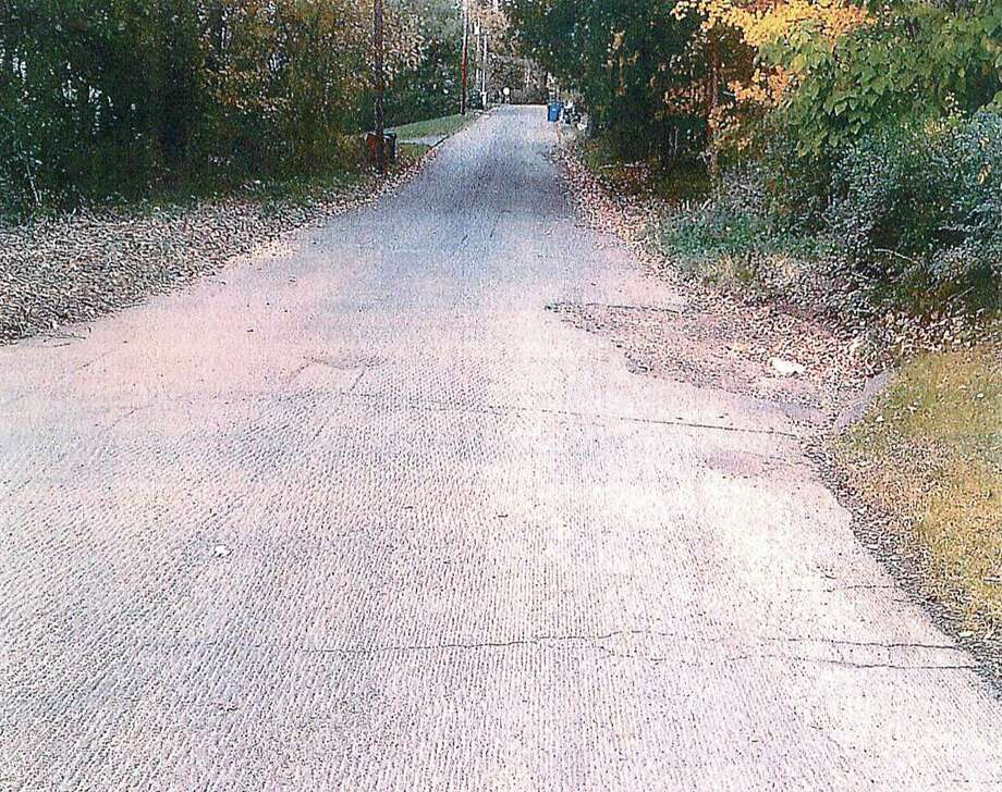 Photo of the roadway included in Benjamin Marino's lawsuit complaint.