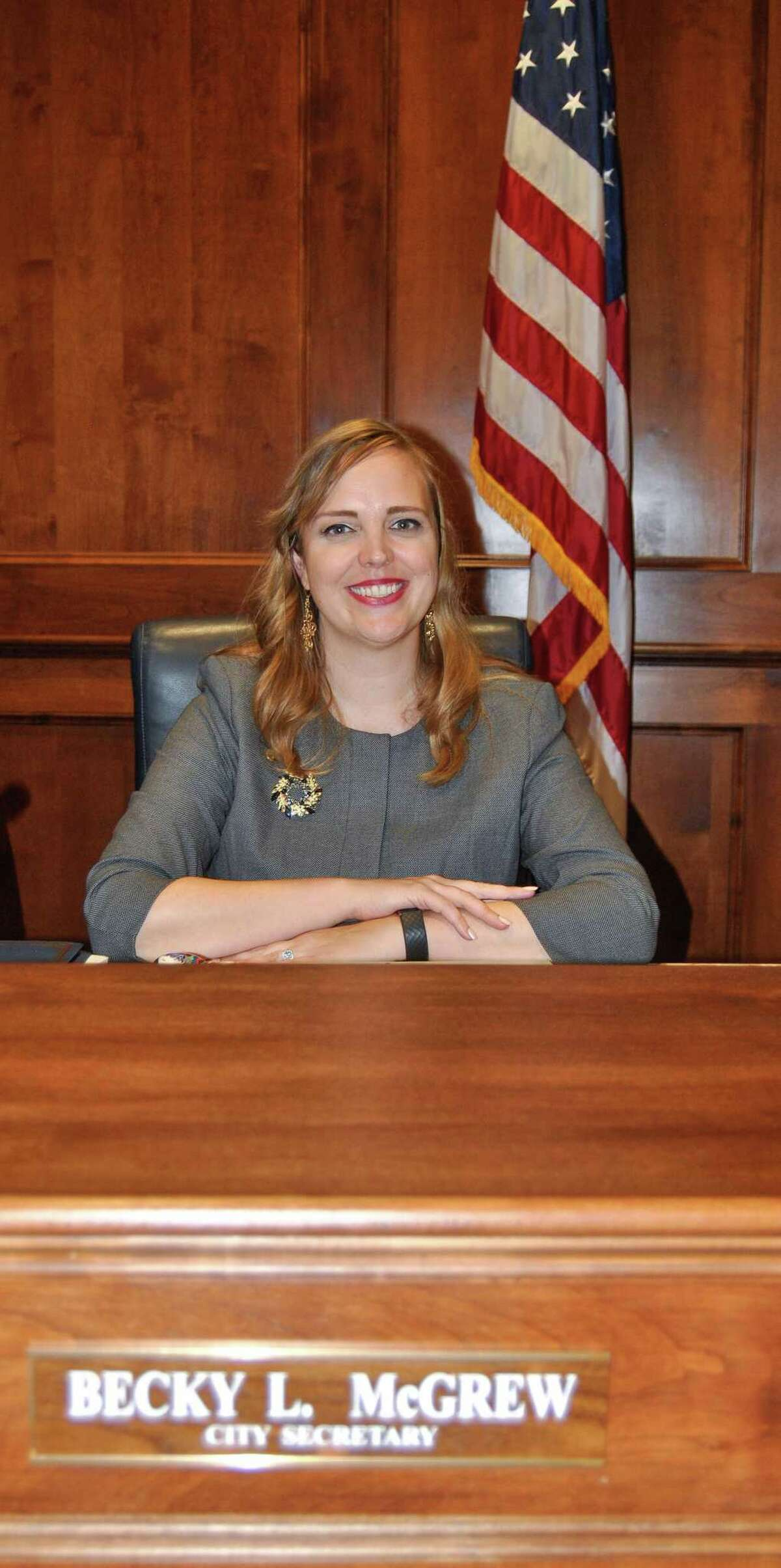 Becky L. McGrew was appointed Katy city secretary on Oct. 28. She had served as assistant city secretary five years before her appointment.