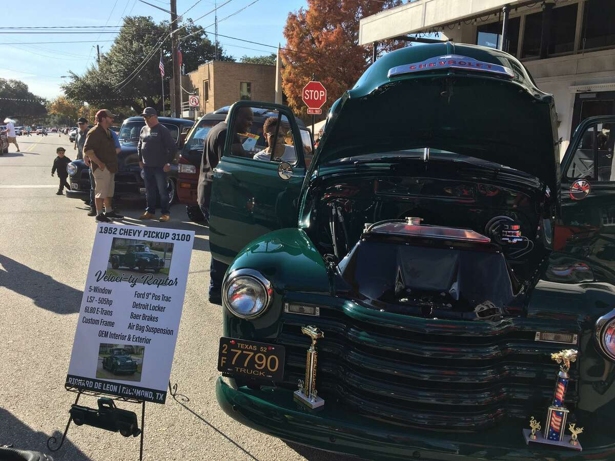 Richard DeLeon of Richmond won first place in GM, All Category, at the Richmond Pecan Harvest Festival car show with his 1952 Chevrolet 3100 PU. Jeff Wisdom, lead chair of the Car & Bike Show at the festival, said,