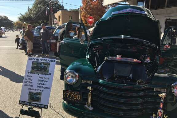 """Richard DeLeon of Richmond won first place in GM, All Category, at the Richmond Pecan Harvest Festival car show with his 1952 Chevrolet 3100 PU. Jeff Wisdom, lead chair of the Car & Bike Show at the festival, said, """"This year's show was the biggest show in the history of car shows hosted in downtown Richmond, and completely blew away all involved."""""""