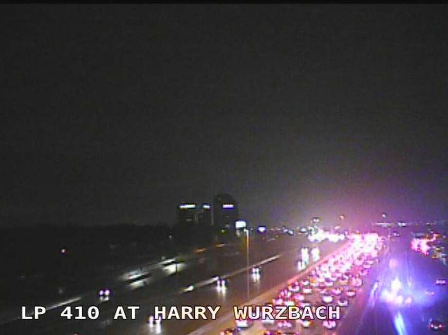 A major accident has brought the closure of eastbound lanes of 410 Friday, Nov. 29, 2019. Photo: Texas Department Of Transportation Transguide