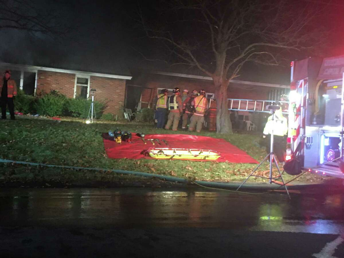Multiple firefighting crews responded to the scene of a house fire on Grandview Drive in Latham on Friday, Nov. 29, 2019.