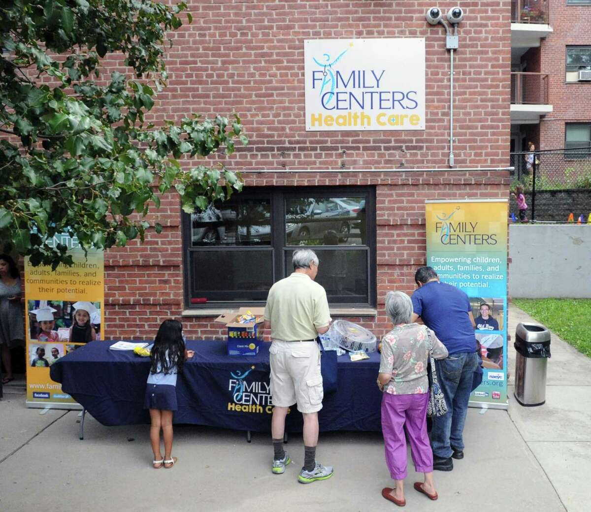 The Family Centers Health Care Fair celebrates National Health Center Week at Wilbur Peck Court in Greenwich on Aug. 12, 2017. Family Centers helps people in need across the community in a variety of ways.