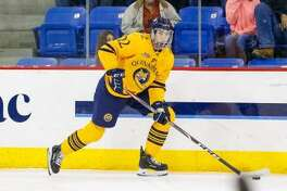 Quinnipiac's Skyler Brind'Amour in action against UMass on Friday.