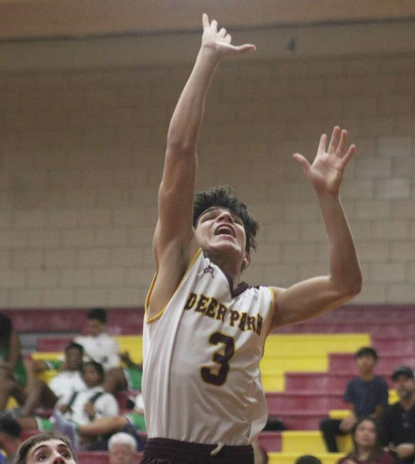 Issac Vasquez attempts a first-half bucket during the team's contest with a Falcon team that led the entire way until the final 2:52. Photo: Robert Avery