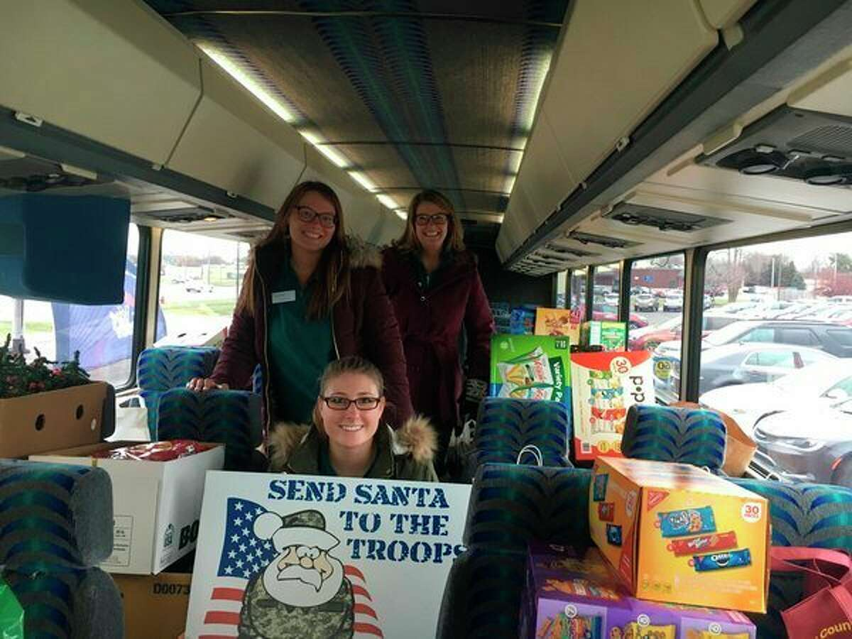 The annual 'Send Santa to the Troops' event is part of a year-long commitment to providing packages to deployed service men and women.(Photo provided)