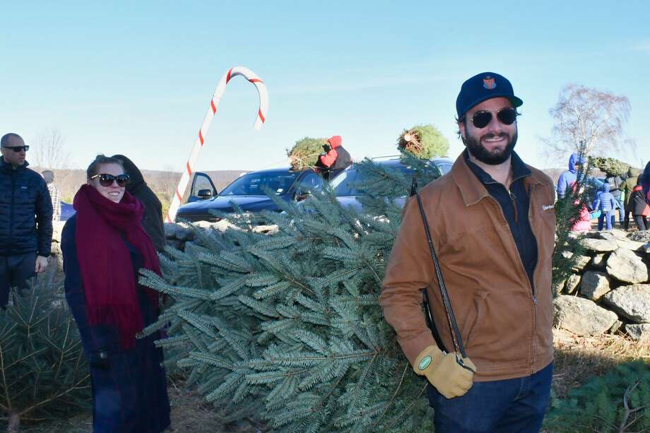 Christmas tree shoppers flocked to Jones Family Farm in Shelton on November 30, 2019. Were you SEEN? Photo: Vic Eng / Hearst Connecticut Media Group