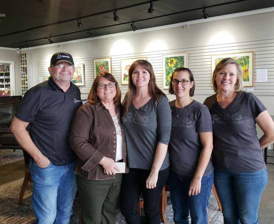 Robert and Debbie Kirk, owners of Higher Grounds Coffee Shop, Kristen Covington, Sari Smith and Jeannie Eads, owners of Found Furnishings, participated in last year's Small Business Saturday Pop-up. Photo: Courtesy Photo