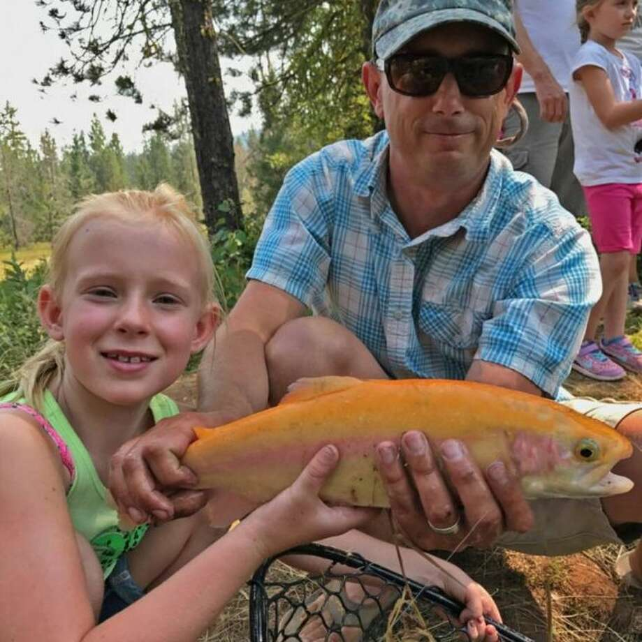 """A strain of rainbow trout called """"Lightning Trout,"""" known for its vivid California gold color, has been stocked at four lakes at East Bay parks. Photo: Mt. Lassen Trout Farm"""