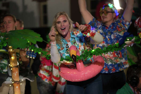 Locals packed the River Walk Friday Nov. 29, 2019, for the annual Ford Holiday River Parade.