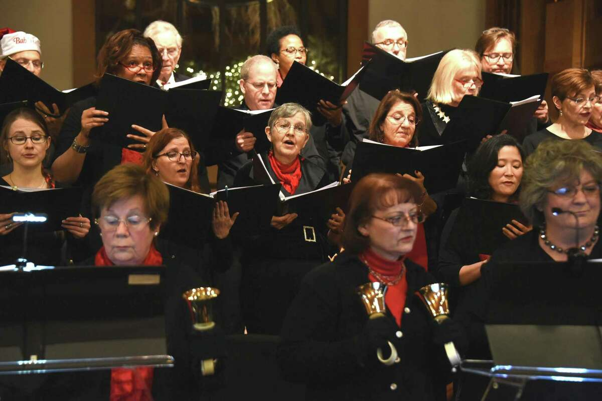 Music on the Hill ringers and singers at St. Matthew's Episcopal Church in December 2019.